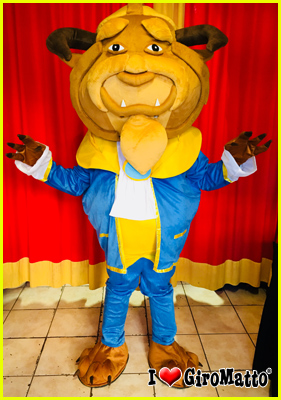 costume mascotte la bestia disney
